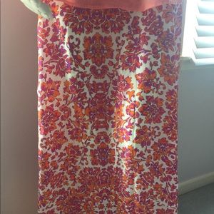Women's Large Olivaceous 100% Silk Long Skirt NWT